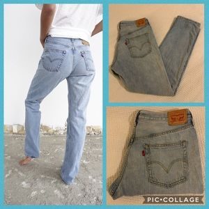 Levi's 501 Vintage Light Wash Mom Jeans For Women